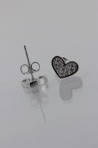 Heart Pavement CZ Earring