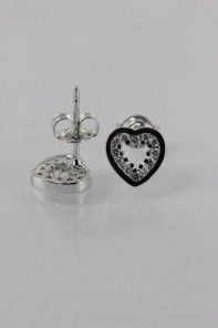 Trendy Heart CZ Earring