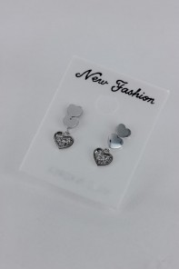 Dangling Heart CZ Earring