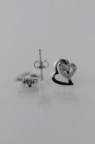 Heart CZ earring
