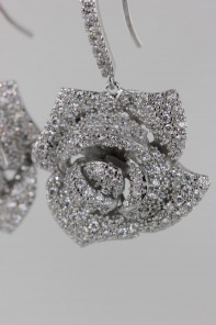 Rose CZ Fishhook earring