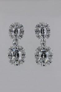 Oval CZ stud earring