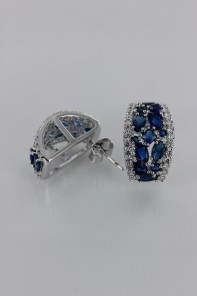 Creative Sapphire Stud Earring