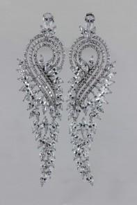 Peacock CZ Stud Earring