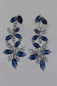 Creation Sappire CZ Stud Earring
