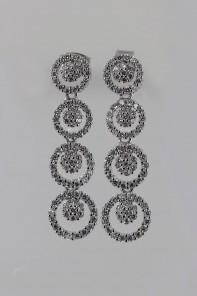 Circle CZ Stud earring