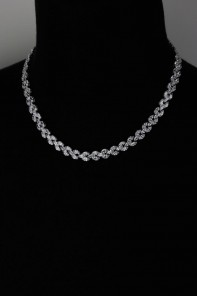 Boat Cubic Zirconia Necklace