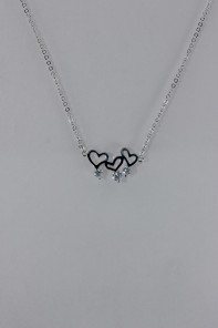 Three heart CZ Pendant