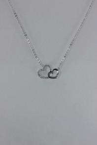 Doulbe heart CZ pendant