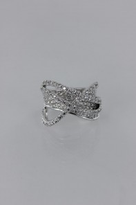 Dimentional Line CZ Ring Wholeale