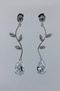CZ waterdrop earring - CR
