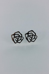 Rose cubic zirconia earring