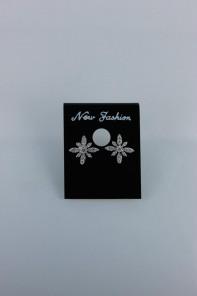 Snow flower cubic zirconia earring