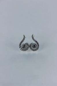 Snail II cubic zirconia earring