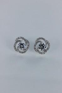Rosa cubic zirconia earring