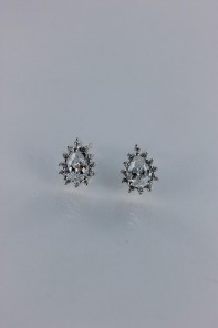 Pear shaped Cubic Zirconia earring