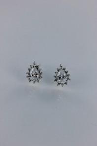 Pear shaped Cubic Zirconia earring