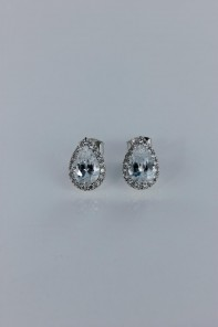 Pear shaped II Cubic Zirconia earring