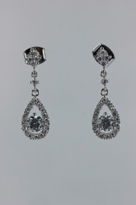 Dew dangle CZ earring