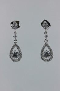 Dew dangle CZ earring