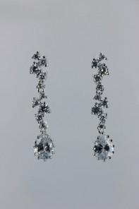ice-cube pear cubic zirconia earring