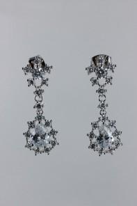 Sha mini pear dangle cz earring