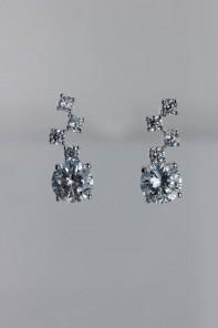 Mozaic round CZ earring