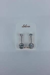 Royal line Cubic Zirconia with silver post
