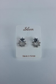 Lupe Cubic Zirconia earring with silver post