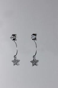 Star dangle cubic zircornia earring