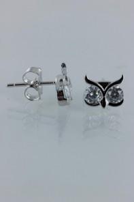 Owl CZ Earring