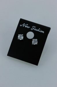 5mm AAA Quality one point up CZ Earring