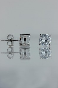 7MM AAA Quality CZ Earring