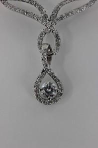 Trend CZ bridal necklace