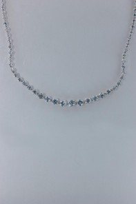 Royal line tennis CZ necklace