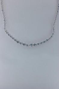 Royal line tennis CZ necklace