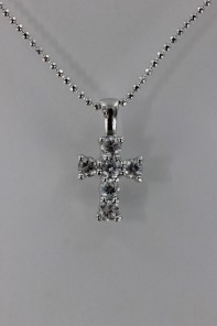 Cross CZ Pendant Necklace