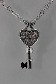 Sabrina Key CZ Pendant Necklace