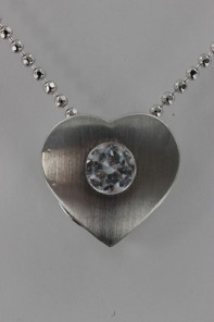 Mattie Heart CZ Pendant Necklace