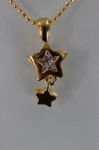 Star Dangle CZ Pendant Necklace