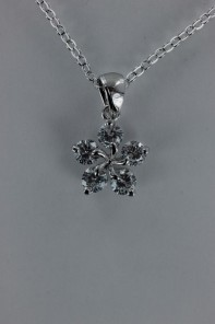 Ume flower AA Grade CZ Pendant Necklace