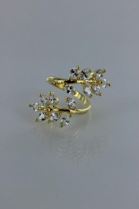 Marque boat leave adjustable CZ ring