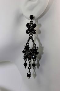 baroko symbol drop stud earring