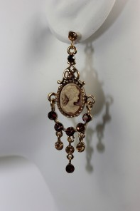 18th century style with camio earring