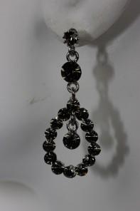 Water drop stud earring