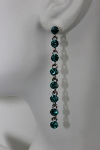 1 Line stone stud earring