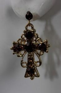 Roman Cross Stud Earring