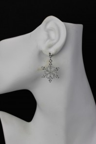 Snow Flake Large Stud Earring