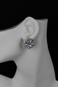 flower clipon earring