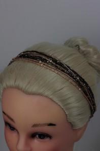 Bead elastic headband